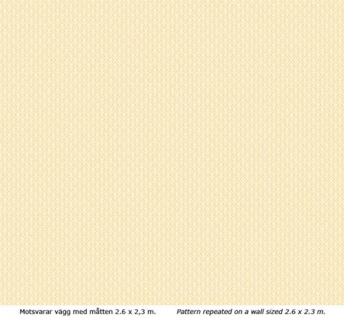Wallpaper - Liten lilja vit/gul