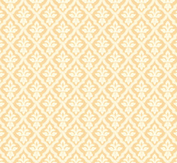 Lim & Handtryck Tapet - Liten lilja vit/gul - sekelskiftesstil - gammal stil