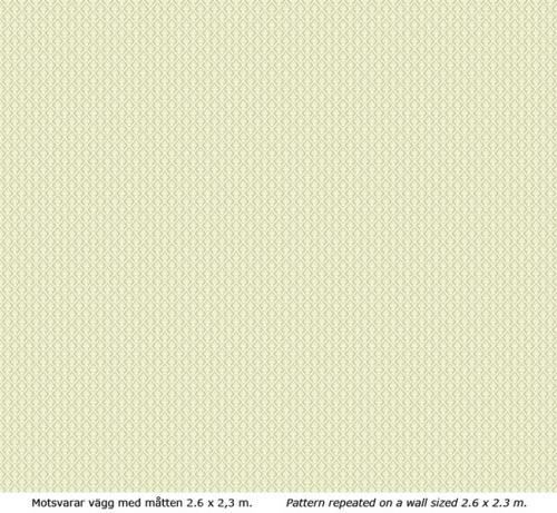Wallpaper - Liten lilja vit/grön