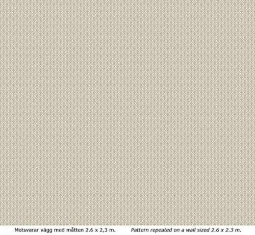 Wallpaper - Liten lilja kvist/vit