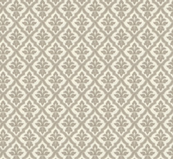Lim & Handtryck Tapet - Liten lilja kvist/vit - gammal stil - klassisk stil