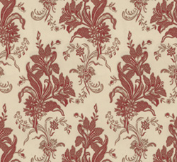 Wallpaper - Liljor kvist/röd