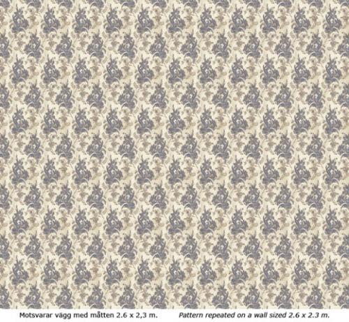 Wallpaper - Liljor kvist/blå