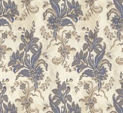 Lim & Handtryck Tapet - Liljor kvist/blå - sekelskfite - gammal stil
