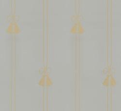 Lim & Handtryck - Gammaldags Tapet - Snoddar & Tofsar blå/guld