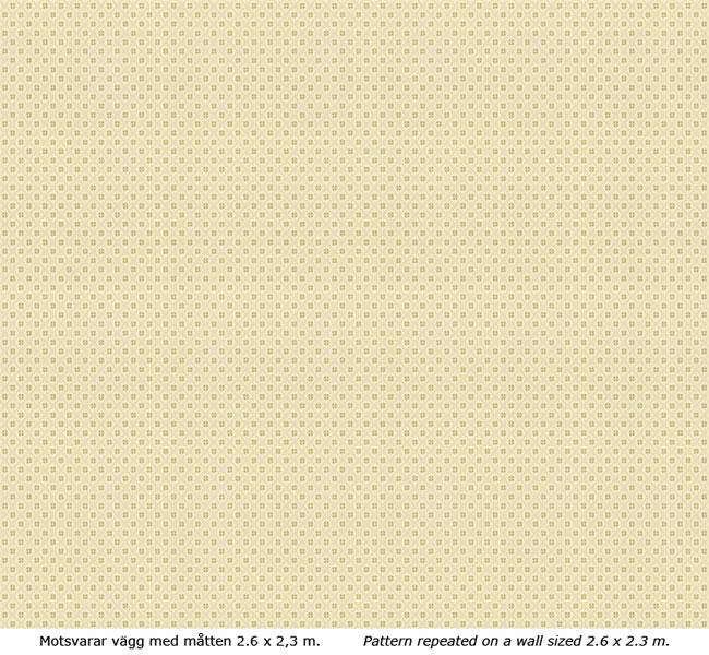 Lim & Handtryck - Gammaldags Tapet - Erken vit/grön - old fashioned style - old style