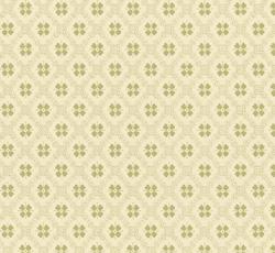Lim & Handtryck - Gammaldags Tapet - Erken vit/grön