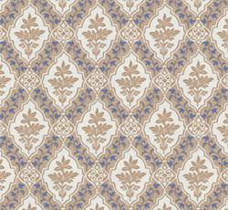 Lim & Handtryck - Gammaldags Tapet - Stenhamra, kvist/blå