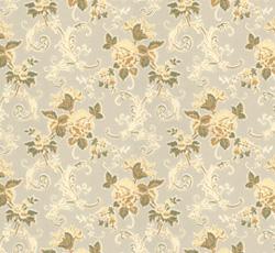 Lim & Handtryck - Gammaldags Tapet - Hovdala blomma, vit/gul - classic style - vintage interior