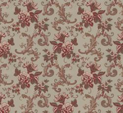 Wallpaper - Hovdala blomma grey/red
