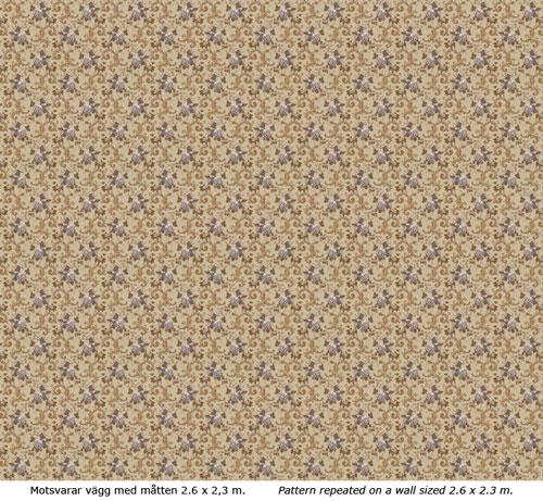 Lim & Handtryck Tapet - Hovdala blomma grå/blå