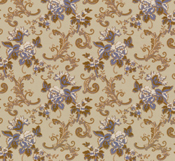 Wallpaper - Hovdala blomma grey/blue