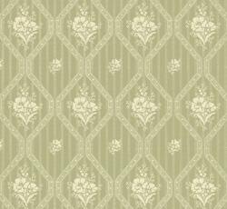 Wallpaper - Blåklint green/white