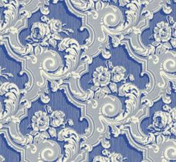 Wallpaper - Fågelsjö gammelgård light blue/blue