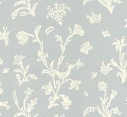 Wallpaper - Fågelblå blue/white