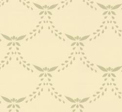 Lim & Handtryck Tapet - Glommersträsk vit/grön - gammaldags stil - klassisk inredning