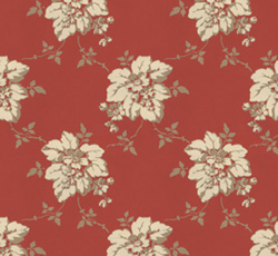 Wallpaper - Hagesalen twig/red