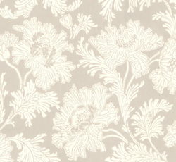 Lim & Handtryck Tapet - Hällestrand vit/grå