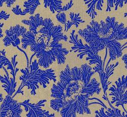 Wallpaper - Hällestrand gold/cobalt blue