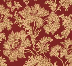Wallpaper - Hällestrand gold/red