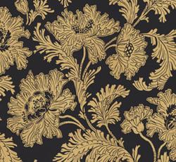 Wallpaper - Hällestrand black/gold