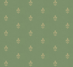 Wallpaper - Fransk lilja green/gold