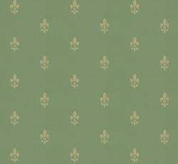 Wallpaper - Fransk lilja green/gold