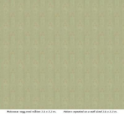 Wall paper - Jugendros green/gold