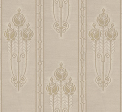 Wall paper - Jugendros beige/gold