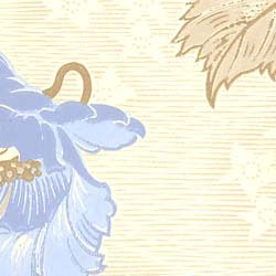Wallpaper - Vallmo white/blue
