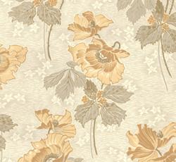 Wallpaper - Vallmo white/yellow