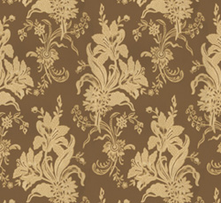 Wallpaper - Liljor brown/gold
