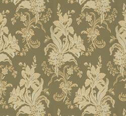 Wallpaper - Liljor olive/gold