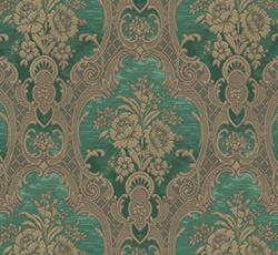 Wallpaper - Nilsagården green/gold - vintage style - old style - oldschool