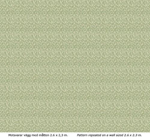 Wallpaper - Bladmönster kvist/grön