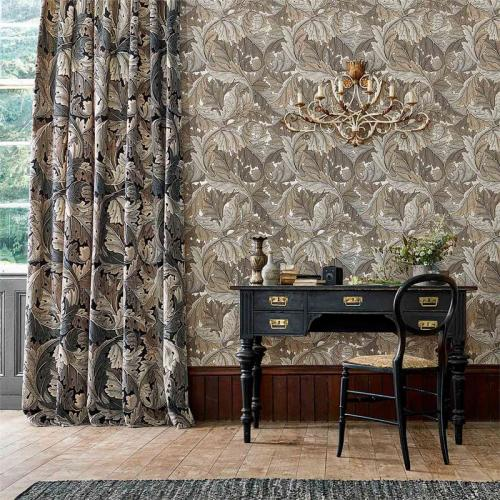 William Morris & Co. Wallpaper - Acanthus Charcoal/Grey