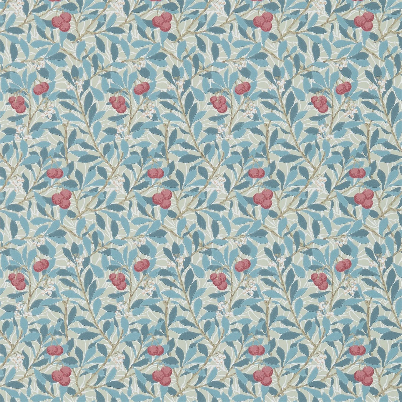 William Morris Co Wallpaper Arbutus Woad Russet