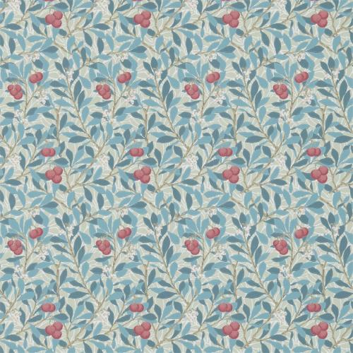William Morris & Co. Wallpaper - Arbutus Woad/Russet