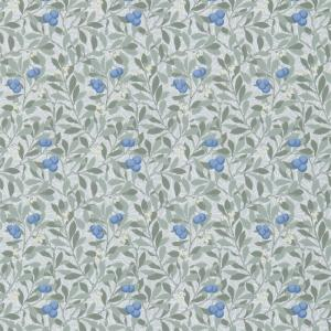 William Morris & Co. Wallpaper - Arbutus Silver/Cobalt