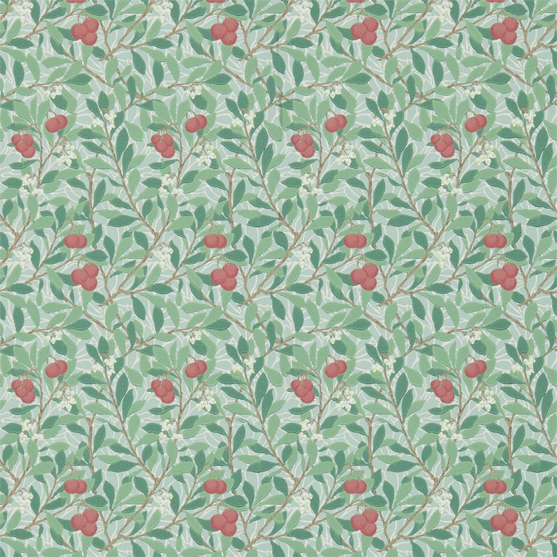 William Morris Co Classic Wallpapers Arbutus Thyme Coral
