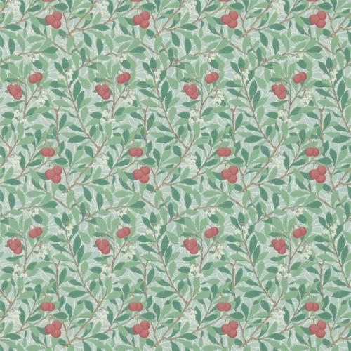 William Morris & Co. Wallpaper - Arbutus Thyme/Coral