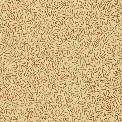 William Morris & Co. Wallpaper - Lily Leaf Red