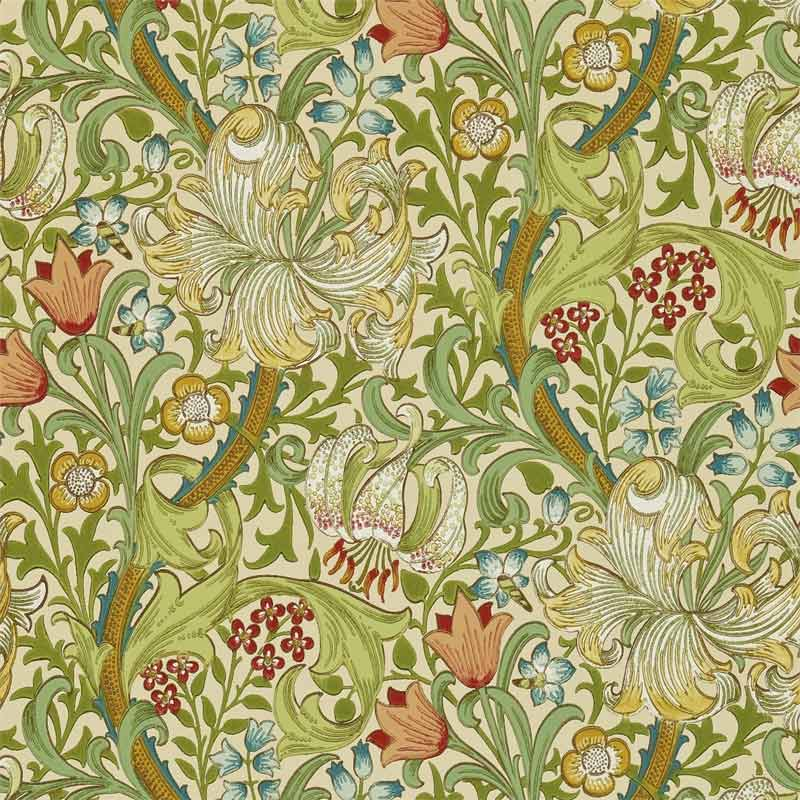 William Morris Co Wallpaper Golden Lily Pale Biscuit
