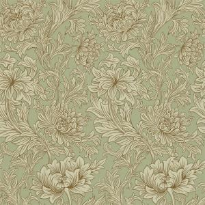 William Morris & Co. Wallpaper - Chrysanthemum Toile Eggshell/Gold