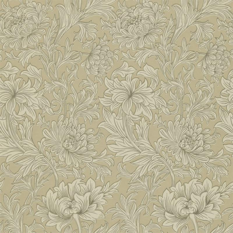 William Morris & Co. Wallpaper - Chrysanthemum Toile Ivory/Gold