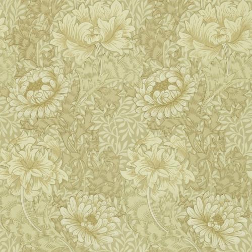 William Morris & Co. Tapet - Chrysanthemum Ivory/Canvas - gammaldags tapet med blommor