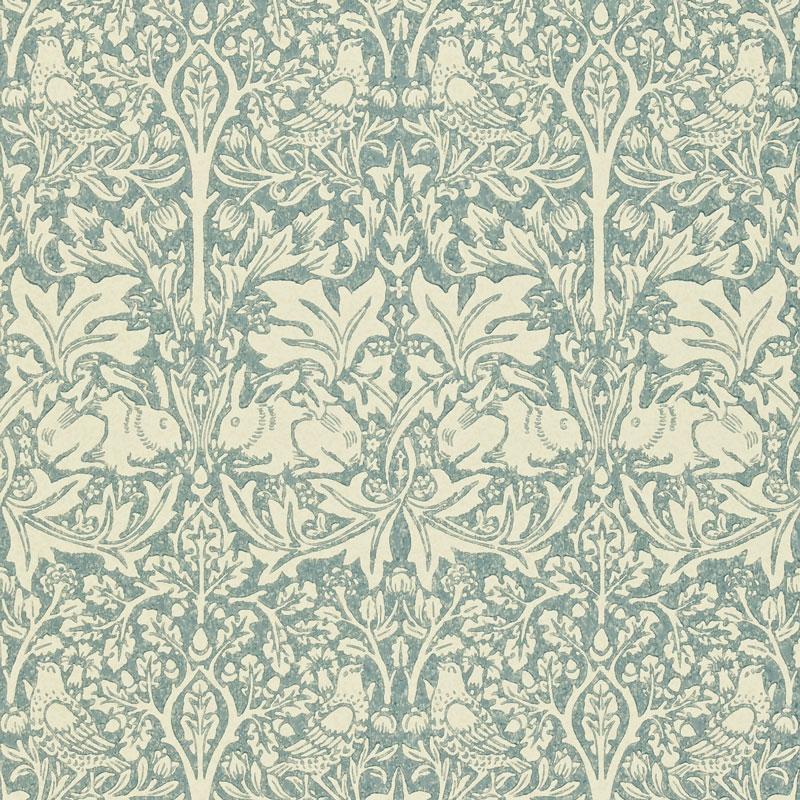 William Morris & Co. Wallpaper - Brer Rabbit Slate/Vellum