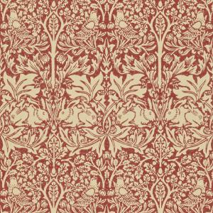 William Morris & Co. Wallpaper - Brer Rabbit Church Red/Biscuit