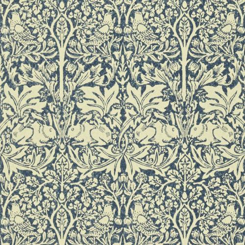 William Morris & Co. Wallpaper - Brer Rabbit Indigo/Vellum
