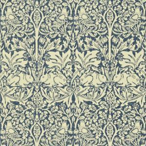 William Morris & Co. Wallpaper - Brer Rabbit Indigo/Vellum
